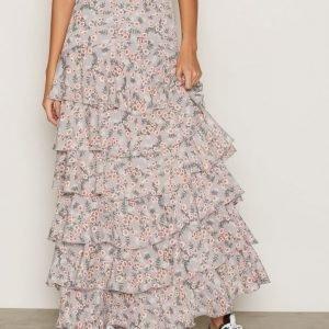 Glamorous Floral Maxi Skirt Pitkä Hame Grey
