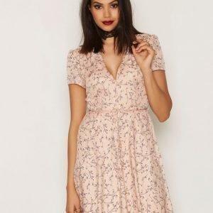 Glamorous Floral Ss Dress Skater Mekko Pink