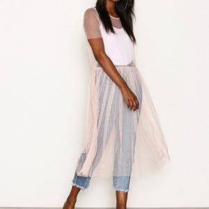 Glamorous Flow Midi Dress Loose Fit Mekko Blush