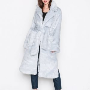 Glamorous Fur Wrap Coat Tekoturkki Light Grey