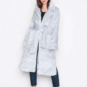 Glamorous Fur Wrap Coat Tekoturkki Light Grey