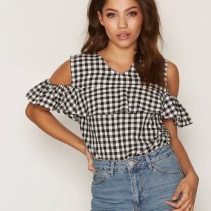 Glamorous Gingham Top Toppi Black / White
