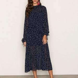 Glamorous High Neck L / S Dress Skater Mekko Navy / White