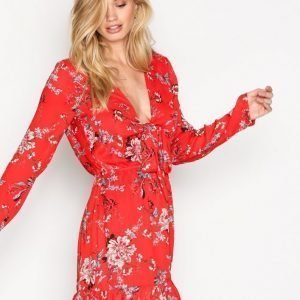 Glamorous Long Sleeve Dress Pitkähihainen Mekko Red