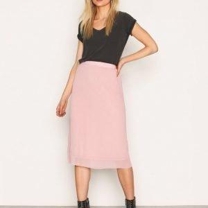 Glamorous Midi Skirt Midihame Dusty Pink