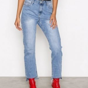 Glamorous Mom Jeans Straight Farkut Mid Blue
