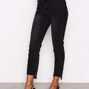 Glamorous Mom Jeans Straight Farkut Washed Black