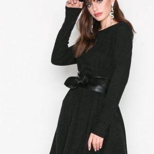 Glamorous Rib Dress Loose Fit Mekko Black