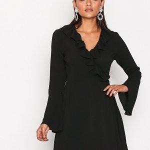 Glamorous Short Sleeve Chiffon Dres Mekko Black