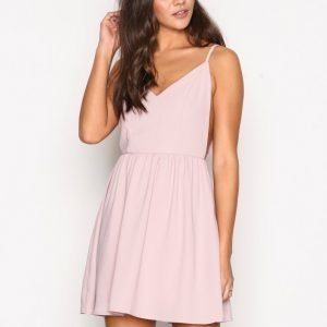 Glamorous Strappy Skater Dress Skater Mekko Dusty Pink