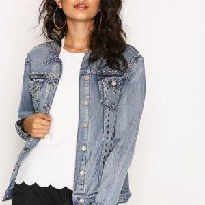Glamorous Stud Jeans Jacket Farkkutakki Antique