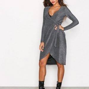 Glamorous Wrap Long Sleeve Dress Kotelomekko Hopea