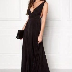 Goddiva Pleated Oscar Dress Black
