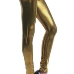 Gold Metallic Leggings Tights