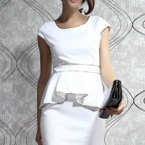 Gold valkoinen peplum-mekko