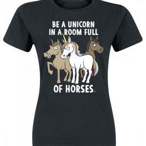 Goodie Two Sleeves Be A Unicorn Naisten T-paita