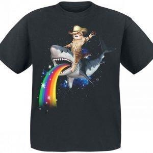 Goodie Two Sleeves Bucking Sharkaroo T-paita