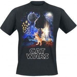 Goodie Two Sleeves Cat Wars T-paita