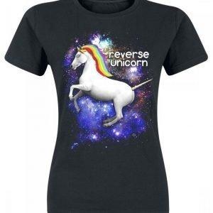Goodie Two Sleeves Reverse Unicorn Naisten T-paita