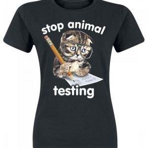 Goodie Two Sleeves Stop Animal Testing Naisten T-paita