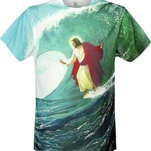 Goodie Two Sleeves Surfs Up Jesus T-paita