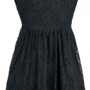 Gothicana By Emp Black Sleeveless Lace Skater Dress Mekko