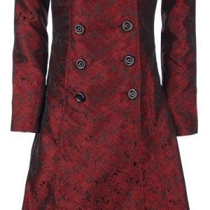 Gothicana By Emp Blood Red Brocade Coat Naisten Maiharitakki