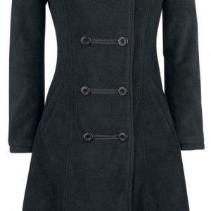 Gothicana By Emp Dark Fleece Coat Naisten Pitkä Talvitakki