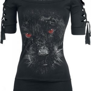 Gothicana By Emp Devils Eye Panther Cut Out Naisten T-paita