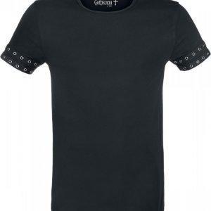 Gothicana By Emp Eyelet Tape Shirt T-paita