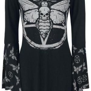 Gothicana By Emp Hooded Deathmoth Pentagram Longsleeve Naisten Pitkähihainen Paita
