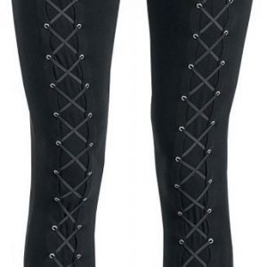 Gothicana By Emp Lace Up Front Leggings Naisten Legginsit