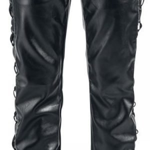 Gothicana By Emp Leather Look Pants Straight Fit Keinonahkahousut