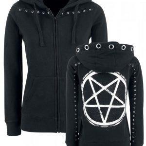 Gothicana By Emp Pentagram Eyelet Hoodie Jacket Naisten Vetoketjuhuppari
