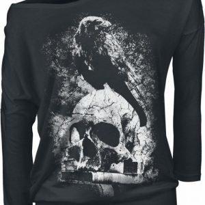 Gothicana By Emp Raven Skull Naisten Pitkähihainen Paita