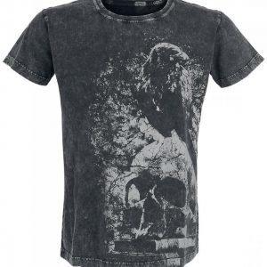 Gothicana By Emp Raven Skull Shirt T-paita