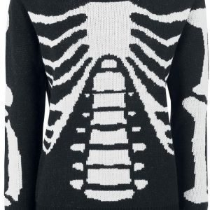 Gothicana By Emp Skeleton Knitted Pullover Naisten Pusero