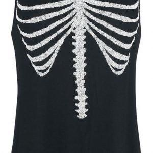 Gothicana By Emp Skeleton Top Naisten Toppi