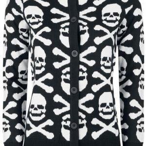 Gothicana By Emp Skull And Bones Cardigan Naisten Neuletakki