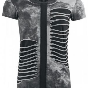 Gothicana By Emp Slashed Spray Wash Shirt Naisten T-paita