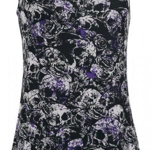 Gothicana By Emp Sprinkled Skull And Roses Top Naisten Toppi