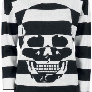 Gothicana By Emp Stripes And Skull Sweatshirt Naisten Svetari