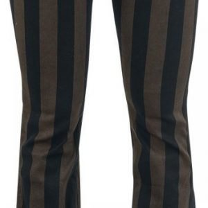 Gothicana By Emp Wide Stripe Grace Boot Cut Naisten Kangashousut