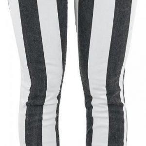 Gothicana By Emp Wide Stripe Skarlett Slim Fit Naisten Kangashousut