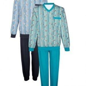 Gregory Pyjama 2-Pakkaus Laivastonsininen / Smaragdi