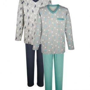 Gregory Pyjama 2-Pakkaus Meleerattu Harmaa / Kaisla