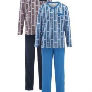 Gregory Pyjama Ecru / Laivastonsininen / Sininen