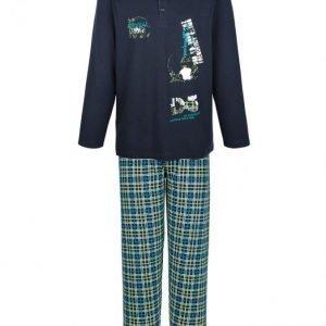 Gregory Pyjama Laivastonsininen / Smaragdi / Limetti