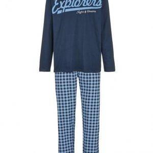Gregory Pyjama Laivastonsininen / Vaaleansininen / Valkoinen