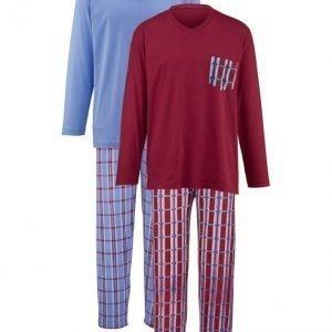 Gregory Pyjama Laivastonsininen / Viininpunainen / Sininen
